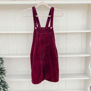 Top shop Corduroy Overall Dress
